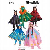 8767 Simplicity Pattern: Kids' Cape Costumes